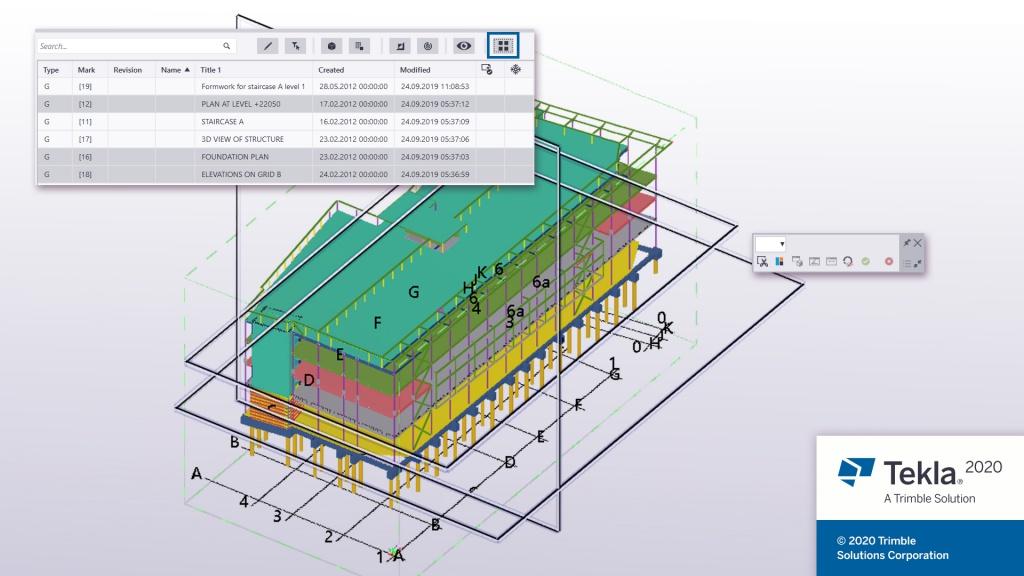 Tekla Structures 2020 Drawing enhancements
